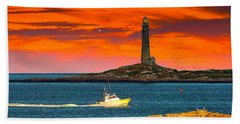 Lobster Boat Cape Cod Hand Towel by Randall Branham
