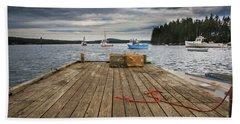 Lobster Boats Of Winter Harbor Hand Towel