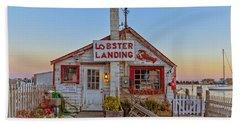 Lobster Landing Sunset Bath Towel