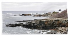 Lobster Point Lighthouse - Ogunquit Maine Hand Towel