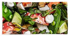 Lobster-salad Hand Towel by Tim Gilliland