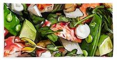 Lobster-salad Bath Towel