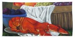 Lobster Still Life Bath Towel
