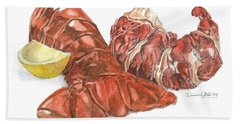 Lobster Tail And Meat Hand Towel