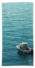 Lobsterman In Maine Bath Towel