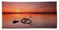 Loch Leven Sunset Bath Towel