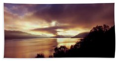 Loch Ness Winter Sunset Bath Towel