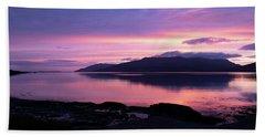 Loch Scridain Sunset Bath Towel