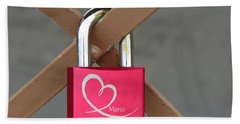 Lock Of Love Hand Towel