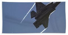 Bath Towel featuring the photograph Lockheed Martin F-35b Lightning II by Shirley Mitchell