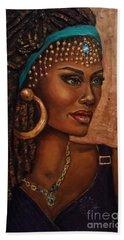 Hand Towel featuring the painting Locks by Alga Washington