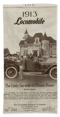 Hand Towel featuring the photograph Locomobile Advertisement by Cole Thompson