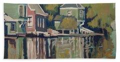 Lofts Along The River Zaan In Zaandam Hand Towel by Nop Briex