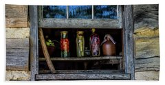 Hand Towel featuring the photograph Log Cabin Window by Paul Freidlund