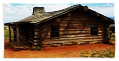 Log Cabin Yr 1800 Bath Towel by Joseph Frank Baraba