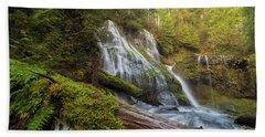 Log Jam By Panther Creek Falls Bath Towel
