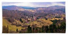 Lokve Valley In Gorski Kotar View Hand Towel