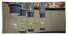 Bath Towel featuring the photograph Lombardi Trophy Lineup At Packers Hall Of Fame by Bill Pevlor