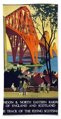 London And North Eastern Railway - Retro Travel Poster - Vintage Poster Bath Towel