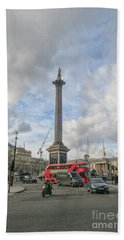 London Bus And Lord Nelson Hand Towel