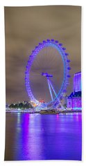 London Cityscape At Night 5x7 Hand Towel