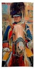 London Guard On Horse Bath Towel