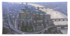 London, Looking West From The Shard Hand Towel