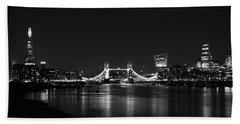 London Night View Hand Towel by Mark Rogan