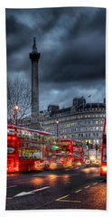 London Red Buses Hand Towel