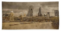 London, England - London Skyline East Hand Towel