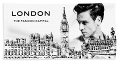 London The Fashion Capital Hand Towel