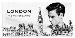 London The Fashion Capital Hand Towel