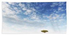 Lone Acacia Tree In The Masai Mara Hand Towel