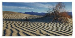 Lone Bush Death Valley Hdr Hand Towel by James Hammond