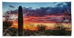 Lone Cactus Hand Towel