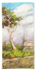 Lone Cedar Hand Towel by Mary Hubley