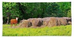 Lone Cow Guard, Smith Mountain Lake Hand Towel