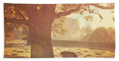 Hand Towel featuring the photograph Lone Deer by Lyn Randle