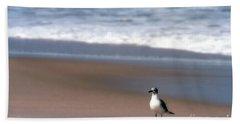 Lone Gull Hand Towel by Nicki McManus