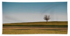 Lone Hawthorn Tree II Bath Towel