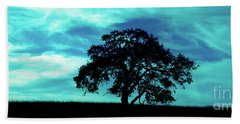 Hand Towel featuring the photograph Lone Oak by Jim and Emily Bush