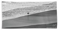 Lone Surfer Bath Towel