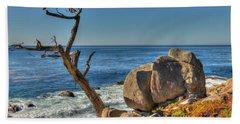 Lone Tree California Coast Bath Towel by James Hammond