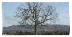 Lone Tree Bath Towel by Donna G Smith