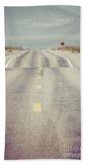 Lonely Desert Highway Road Hand Towel