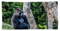 Hand Towel featuring the photograph Lonely Gorilla by Joann Copeland-Paul