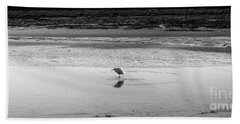 Lonely Heron Bath Towel by Nicholas Burningham
