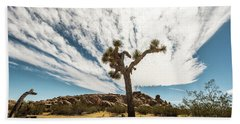 Lonely Joshua Tree Bath Towel by Amyn Nasser
