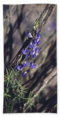 Lonely Lupine Hand Towel