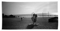 Lonely Man In Ostia Beach Hand Towel